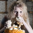 Stock Photo: Gluttony