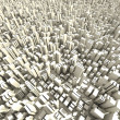 3d skyline of a crowd city, aerial view — Stock Photo #4282359