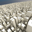3d skyline of a crowd city, aerial view — Stock Photo #4282361