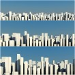 3d skyline of a crowd city, aerial view — Stock Photo #4282416