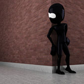 3d man evil criminal — Foto Stock