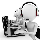 3d man call center — Stock Photo