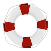 3d life buoy, on white background — Stock Photo