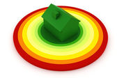 3d, Energy efficiency concept, on white background — Stock Photo