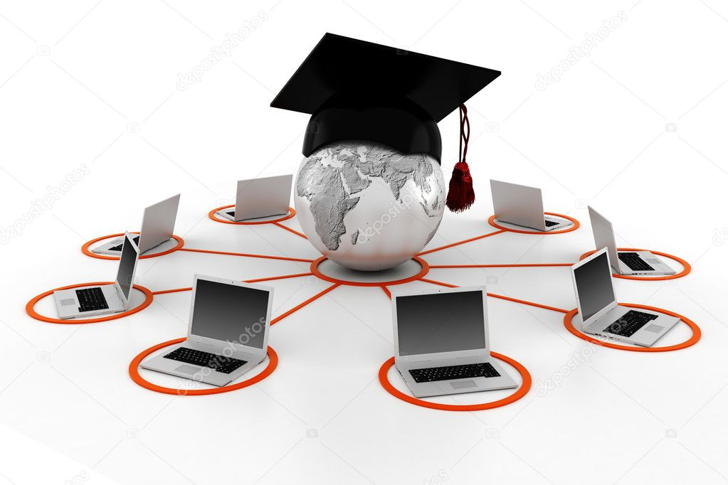 3d e-learning concept — Stock Photo #4640559