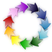 3d colorful circular arrows — Stock Photo