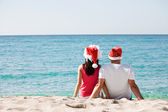 Christmas couple in love — Stock Photo