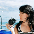 Young woman on vacation — Stock Photo