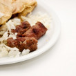 Kebab (Cevap) with onion - Stock Photo