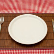 Stock Photo: empty plate&quot