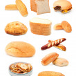 Bread over white background — Stock Photo