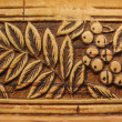 Fragment products from birch bark. Background — Stock Photo