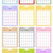 Stock Vector: 2011 Calendar Set
