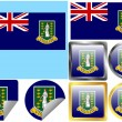 Flag Set British Virgin Islands — Stock Vector