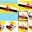 Flag Set Brunei — Stock Vector