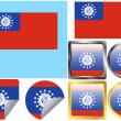 Flag Set Burma Myanmar — Stock Vector #3979217