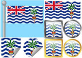 Flag Set British Indian Ocean Territory — Stock Vector