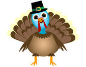 Smiling Thanksgiving Turkey — Stock Vector