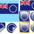 Flag Set Cook Islands — Stock Vector