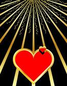 валентина сердце наполнено любовью — Cтоковый вектор