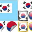 Royalty-Free Stock Vector Image: Flag Set South Korea