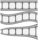 Set of Three Filmstrips — Stock Vector