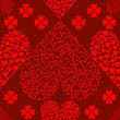 图库矢量图片: Seamless Valentines Hearts Background