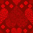 无缝情人节红心背景 — 图库矢量图片