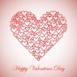 Stock Vector: Happy Valentines Day Background