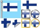 Flag Set Finland — Stock Vector