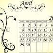 Stock Vector: 2012 Calendar Set 2 Decorative Flourish April