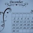 2012 Calendar Set 2 Decorative Flourish December — 图库矢量图片