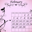 2012 Calendar Set 2 Decorative Flourish February - Stock Vector
