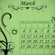 2012 Calendar Set 2 Decorative Flourish March — 图库矢量图片