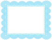 Certificado en blanco adornado en azul — Vector de stock