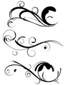 Decorative Flourishes Set 1 — Stock Vector