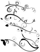 Decorative Flourishes Set 4 — Stock Vector