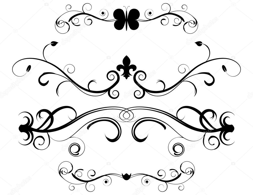 Set of Decorative Page Dividers — Stock Vector #5350442