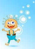 Cartoon boy — Stock Vector