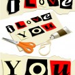 Love message - Stock Vector