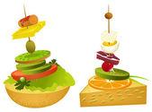 小型の食品ピラミッド — ストックベクタ