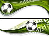 Piłka nożna banery — Wektor stockowy