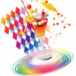 Rainbow drink — Stock Vector