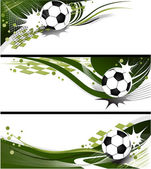 Football banners — Stock Vector