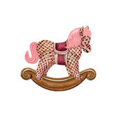 Rocking horse — Stock Vector