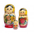 Russian babushka nesting dolls — Stock Photo
