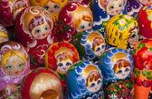Babushka Dolls sold in a market — Stock Photo