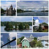 Miles islands collage — Stock Photo
