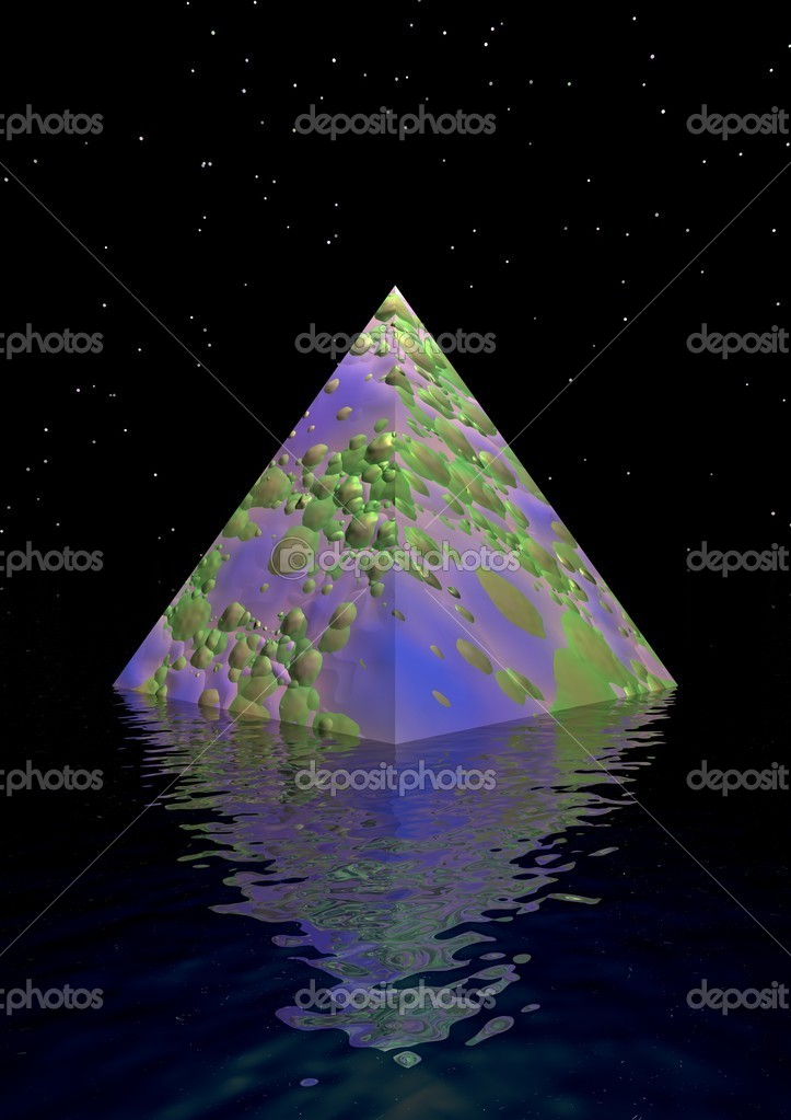 Pyramid purpule and green  Stock Photo #4600793