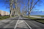 Annecy y azul cielo — Foto de Stock